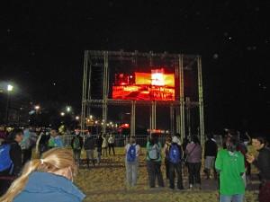 Eröffnungsmesse an der Copacabana