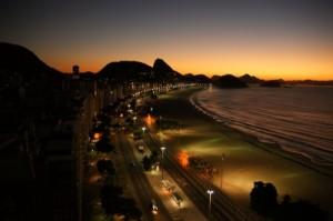 Abendstimmung an der Copacabana
