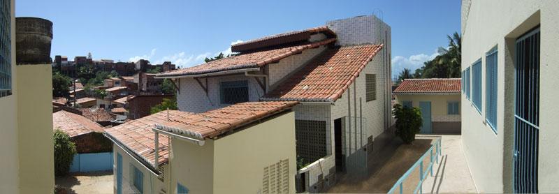 Ansicht des Innenhofs des Casa Crescer