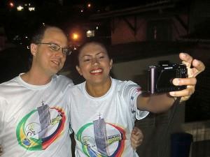 Selfi von Gerhard und Leda