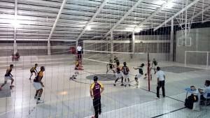 Bild eines Volleyballturniers