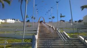 Die Treppe ins Viertel
