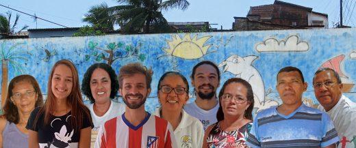 Unsere Gäste(v.l.): Joselia, Bruna, Edilsa, Gentil, Leda Maria, Reinaldo, Maria, Carlos, Padre Róberio © Gerhard / FrKr ML und Centro Sózio