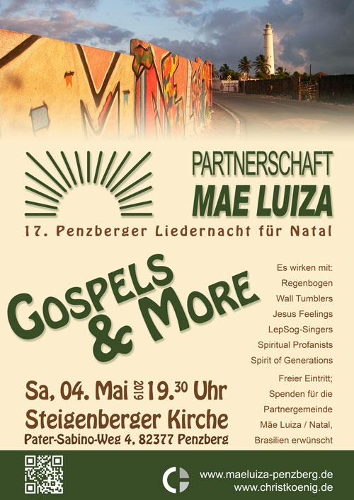 Plakat Gospels & More 2019 © G. Prantl / M. Aigner / Partenrschaft ML