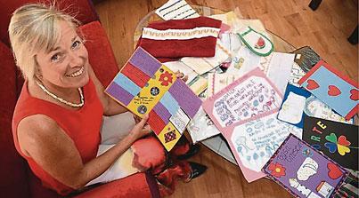 Frau Matschl mit Produkten aus ML© ab/PM