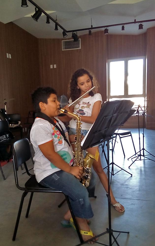 Kinder der Musikschule beim Proben. © Moni / FrKr ML