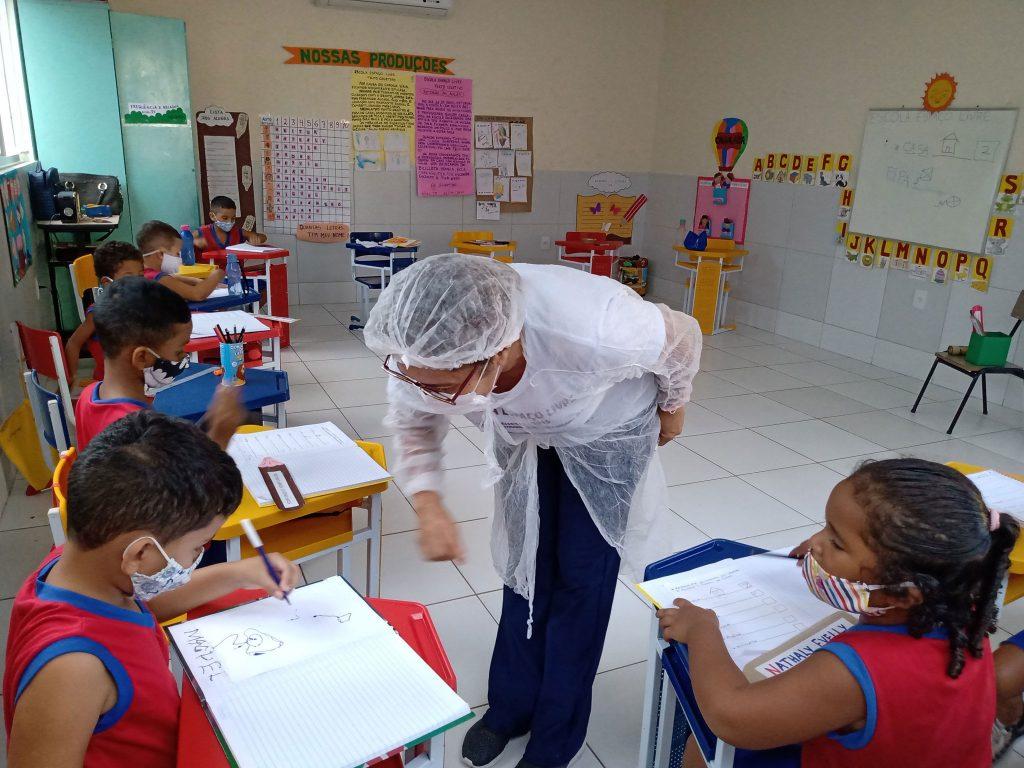 Unterricht für die Kleinsten unter Corona-Bedingungen © Centro Sócio